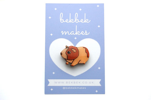 Guinea Pig Pin Badge