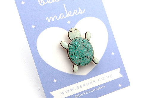 Turtle Pin Badge