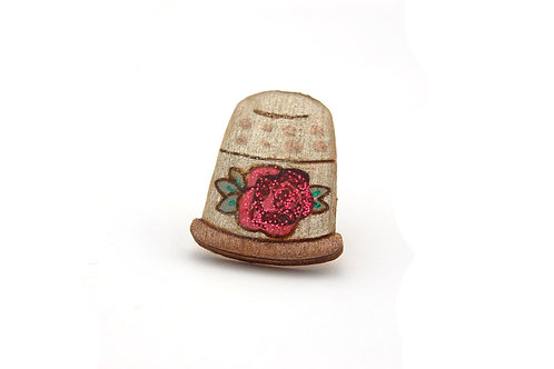 Thimble Pin Badge