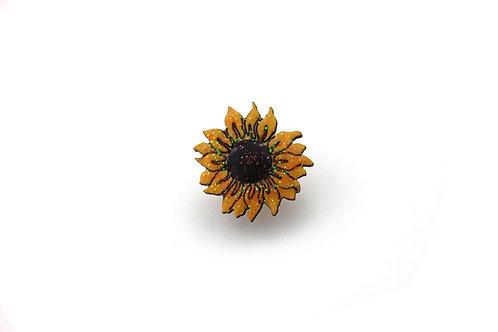 Sunflower Pin Badge
