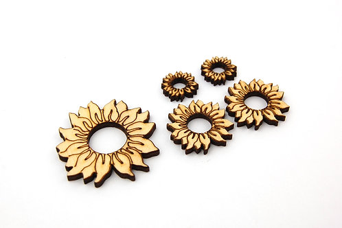 Sunflower Wooden Shapes