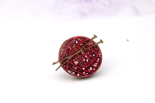 Ball of Wool Pin Badge