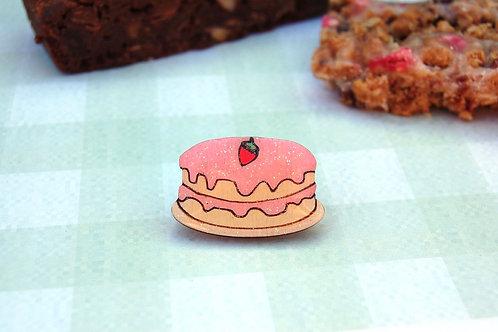 Strawberry Cake Pin Badge
