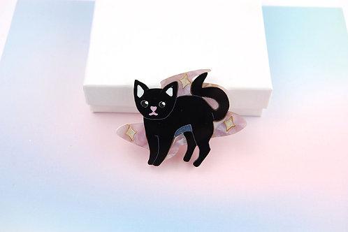 Magical Kitten  - Purple Smoke (Brooch/ Necklace)