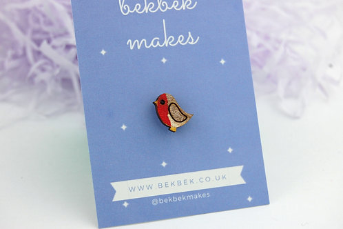 Tiny Robin Pin Badge
