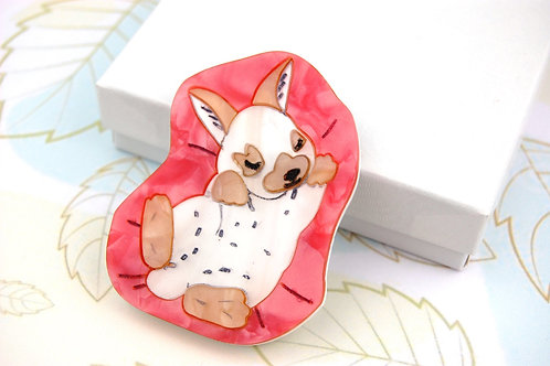 Sleepy Bunny Brooch