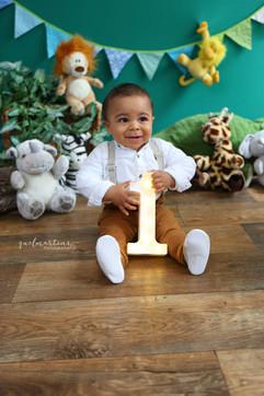 Ensaio fotográfico de bebê de 1 aninho e Smash the Cake