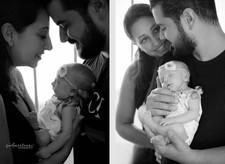 Bebe recém nascido e familia