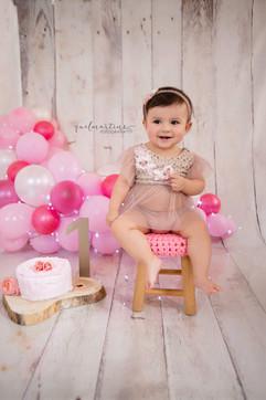 Bebê fundo de balões e Smash the Cake