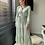 Thumbnail: Lange jurk zachtgroen