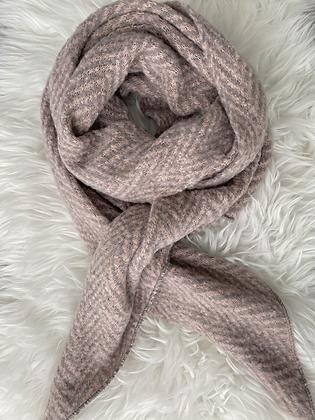 Sjaal zigzag roze