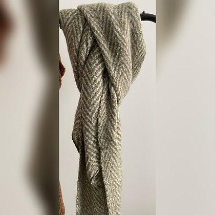 Sjaal zigzag groen