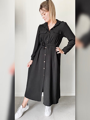 Zwarte maxi dress