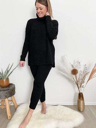 Comfy broek set zwart