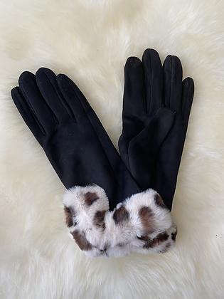 Handschoenen pels zwart