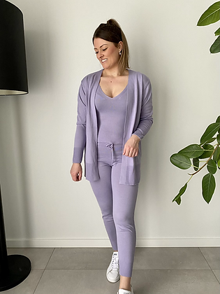 3-delige comfy set lila