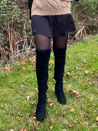 Overknee boots zwart
