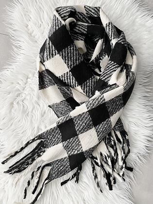 Sjaal zwart-ecru