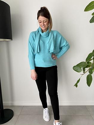 Trui incl sjaal turquoise