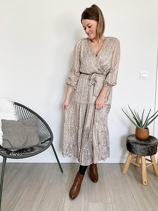 Maxi dress Evelien ecru