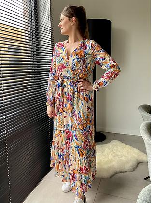 Lange jurk multicolor