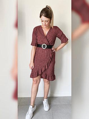 Rode jurk met stippen