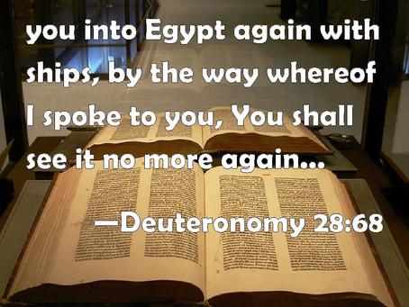 Back into EGYPT… America = Egypt
