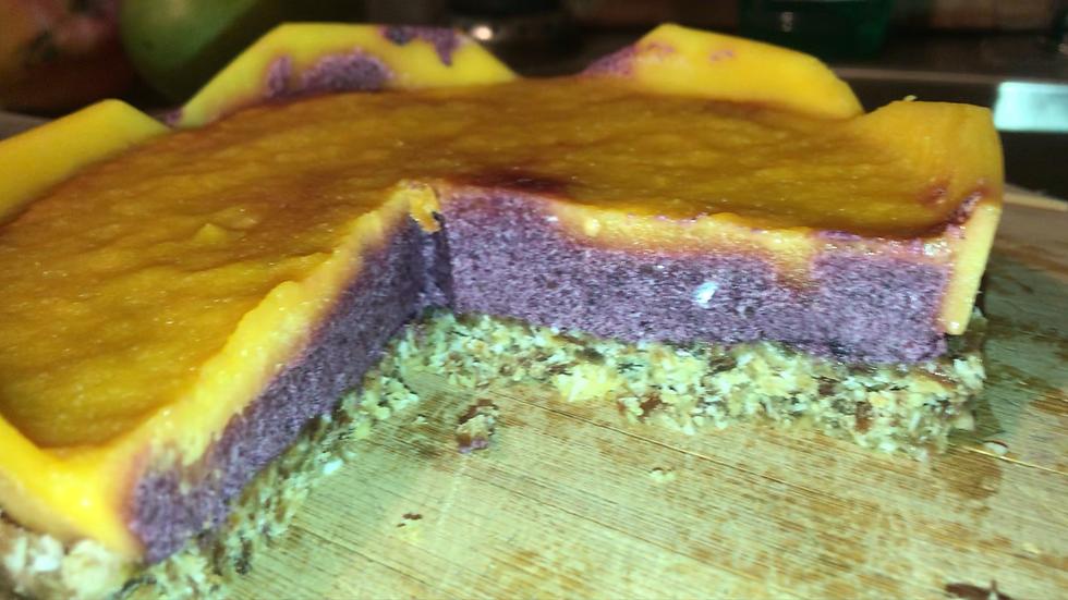 Mango Blueberry Cheesecake
