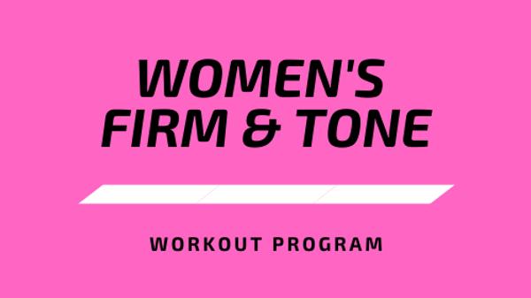Women's Firm & Tone