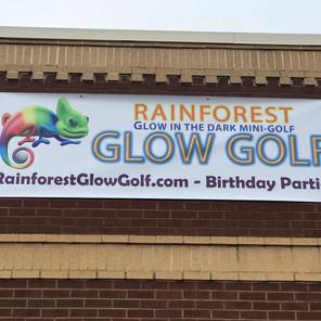 Glow Golf Banner