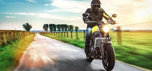 motorbike on the road riding. having fun