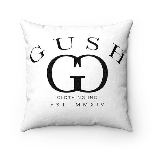 "GUSH ""G"" - Faux Suede Square Pillow Case"