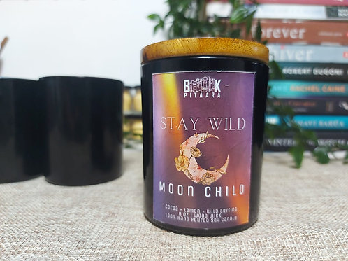 Stay Wild, Moon Child - Wood Wick Candle