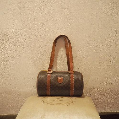 CELINE セリーヌ マカダム柄 筒型ハンドバッグ