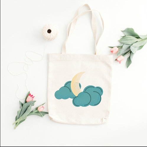 CLOUDY MOON - TOTE BAGS