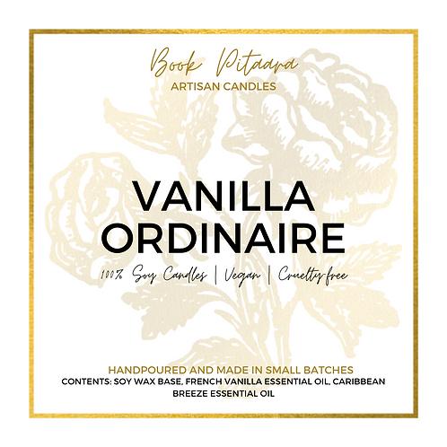 Vanilla Ordinaire - Soy Candle - 6 oz