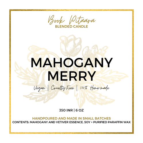 Mahogany Merry - Soy Candle - 6 oz