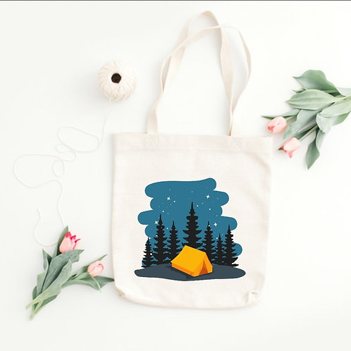 CAMP AND STARS - TOTE BAGS