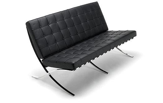 Mies Van Der Rohe Barcelona Leather Sofa 2 Seater