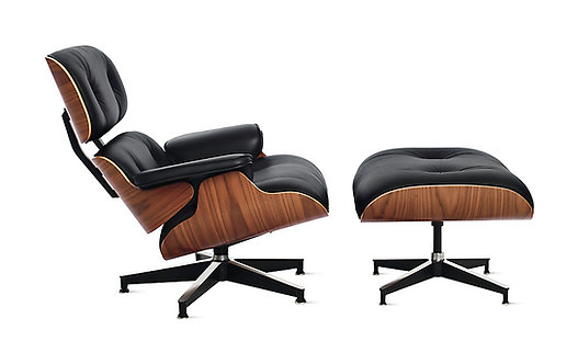 Genuine Leather Eames Lounge Chair And Ottoman