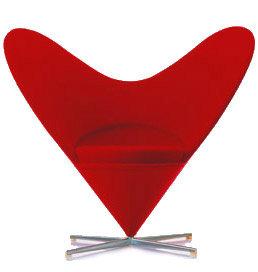 Panton Heart Cone Chair