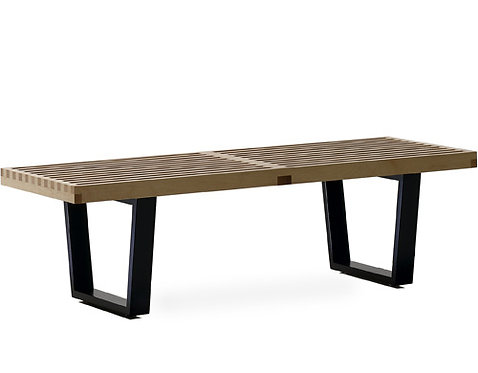 George Nelson Wood Base Platform Bench