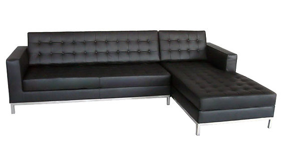 Florence Knoll Aniline Leather Chaise Longue