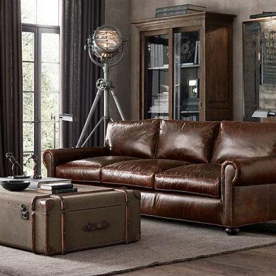 Vintage Leather Sofa 3-2-1 Seater