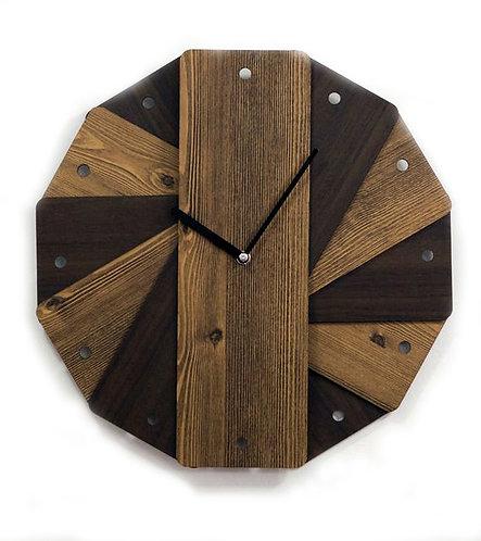 Vintage Layered Wooden Clock