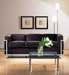Le Corbusier Lc2 3 Seat Sofa