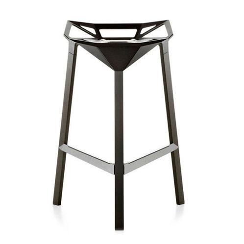 Luke modern aluminum stool