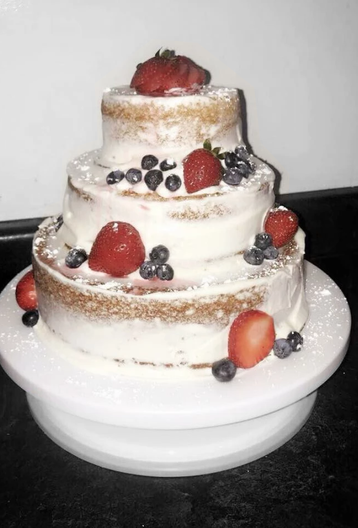 Tiered Semi-Naked Cake