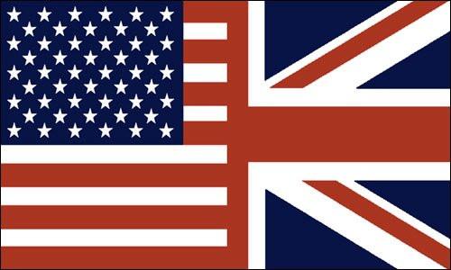 American British flag merged
