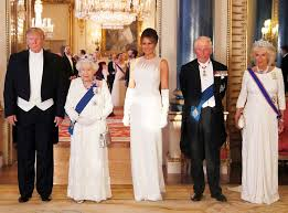 The Queen and President Trump, plus spouses